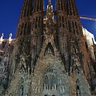 Sagrada Familia with no visitors!! by Cliff Williams