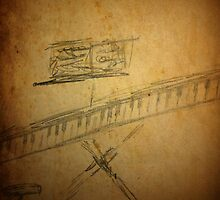 Piano Sketch Drawing  by jbartistic