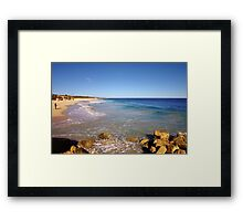 Late afternoon on the beach Framed Print