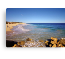 Late afternoon on the beach Canvas Print