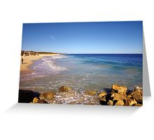 Late afternoon on the beach Greeting Card