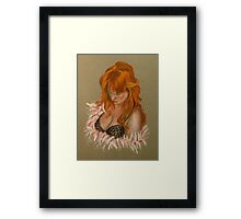Lady in Lace Framed Print