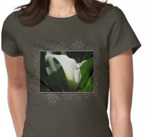 Zantedeschia named Crystal Blush Womens Fitted T-Shirt