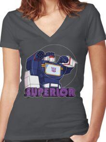Soundwave: Superior (bust) Women's Fitted V-Neck T-Shirt
