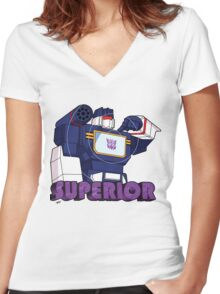 Soundwave: Superior (bust) Women's Fitted V-Neck T-Shirt