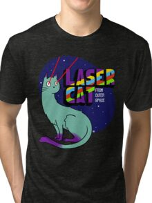 Laser Cat From Outer Space Tri-blend T-Shirt