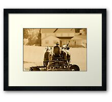 """"""" Moving to Home """" sepia # 2 Framed Print"""