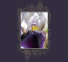 Miniature Tall Bearded Iris named Consummation Womens Fitted T-Shirt
