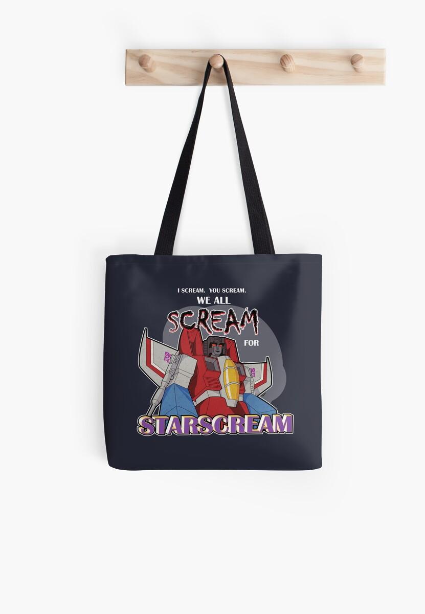 We All Scream for Starscream (dark tee) by NDVs
