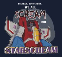 We All Scream for Starscream (dark tee) Kids Tee