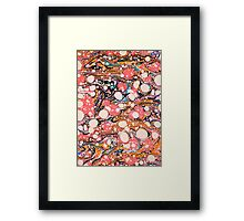 Psychedelic Retro Marbled Paper Framed Print
