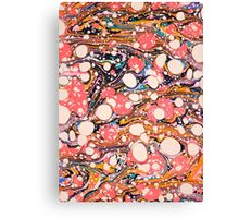 Psychedelic Retro Marbled Paper Canvas Print
