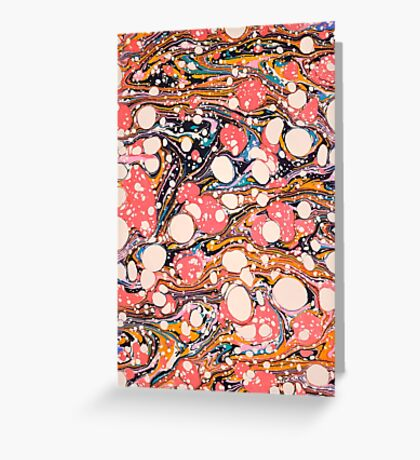 Psychedelic Retro Marbled Paper Greeting Card