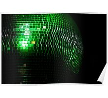 green glitter two Poster