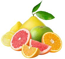 Pile of citrus fruits by 6hands