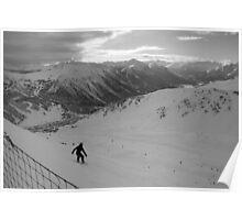 Off piste Snowboarding - Montgenèvre, France Poster