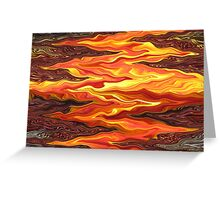 Color Fashion Waves Greeting Card