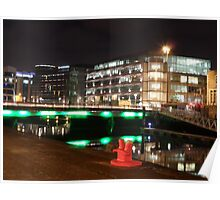 Cork City at night. Poster