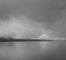Gray Sky over Flathead Lake by Yacoub Hilweh