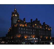 The Balmoral at night Photographic Print
