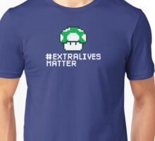 #Extra Lives Matter | Geek Gamer 1Up Mushroom with Slogan Unisex T-Shirt