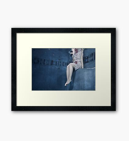 Sitting, waiting Framed Print