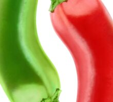 Red and green hot peppers Sticker