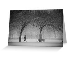 Caught in the snowstorm Greeting Card
