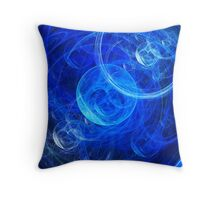 Bubbly Blues  Throw Pillow