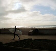Ocean Beach - Last Day of January by Barbara Wyeth
