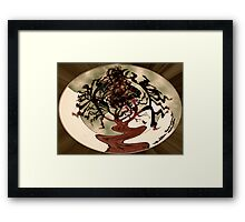 Digital Abstract- Weeping Maple Framed Print