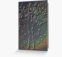 Colorful Engraved Music Tree Greeting Card