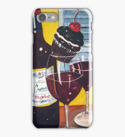 Cupcake wine and a Cupcake iPhone Case/Skin