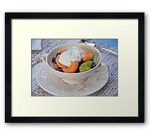 Breakfast at Wedgewood Cottage Framed Print