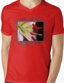 Oriental Lily Hybrid named Mojave Mens V-Neck T-Shirt