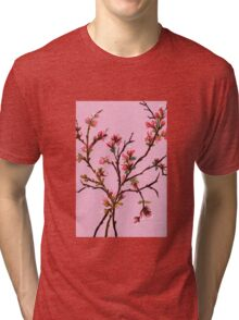 Cherry Blossoms from Amphai Tri-blend T-Shirt
