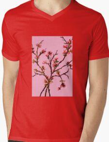 Cherry Blossoms from Amphai Mens V-Neck T-Shirt