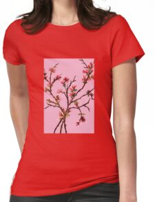 Cherry Blossoms from Amphai Womens Fitted T-Shirt