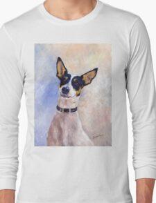 Daisy - Portrait of a Ratonero Bodeguero Andaluz Long Sleeve T-Shirt