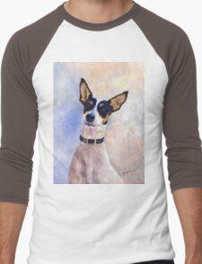 Daisy - Portrait of a Ratonero Bodeguero Andaluz Men's Baseball ¾ T-Shirt