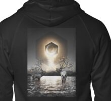 Moon Dust In Your Lungs Zipped Hoodie