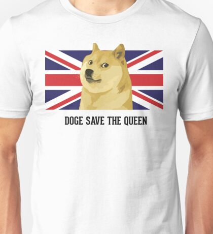Doge save the queen Unisex T-Shirt