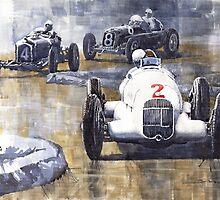 Italian GP 1934 MB W25 Alfa Romeo P3 Maserati 6C by Yuriy Shevchuk