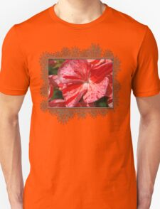 Zonal Geranium named Mosaic Red Unisex T-Shirt