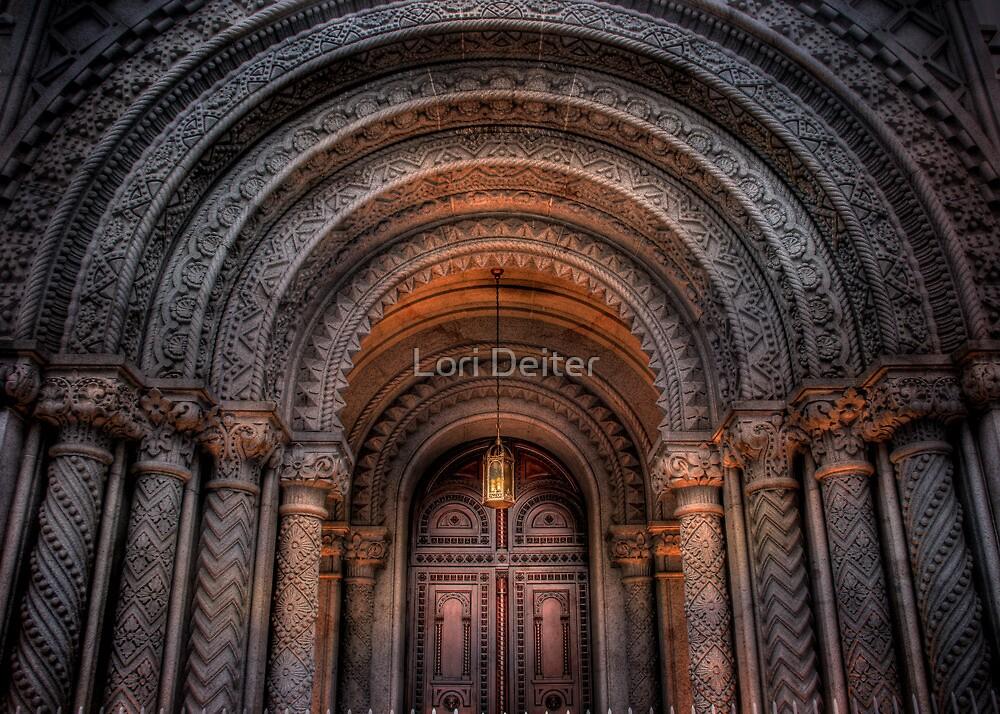 Entrance to the Masonic Temple by Lori Deiter