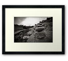 Pebble Garden Framed Print
