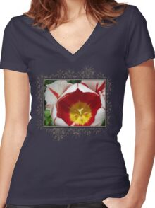 Triumph Tulip named Carnaval de Rio Women's Fitted V-Neck T-Shirt