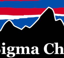 Sigma Chi Red White and Blue Sticker