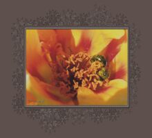 Portulaca in Orange Fading to Yellow One Piece - Short Sleeve
