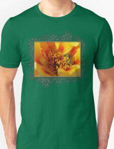 Portulaca in Orange Fading to Yellow Unisex T-Shirt